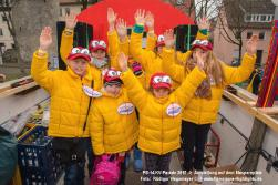 Karnevall-Parade Aufstellung auf dem Maspernplatz 2017