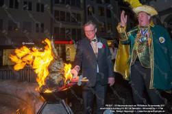 Stroh Hasen Verbrennung vor dem Rathaus -> anschießend Ausklang im Ratskeller mit dem Mümmelprinzen u. 11. Rat und vielen Gästen im Ratskeller PB 2017